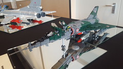 My Mirage IV-P @ Bricktopia Brunssum 2016 (Kenneth-V) Tags: lego military moc scale model aircraft 136 display exhibition brunssum event dutchbricks bricktopia 2016 fighter planes plane bomber raven spirit mirage tornado complete tiger