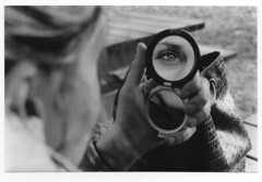 img139 (la Drugo) Tags: parma parco cittadella specchio mirror eye occhio open riflesso reflection girl blackandwhite canon analogic