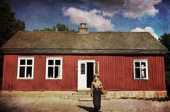 School building (Arnzazu Vel) Tags: skansen schoolbuilding stockholm stoccolma estocolmo sweden sverige suecia escandinavia scandinavia antiques old textura texture