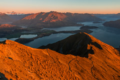 Colored reality (~MountainHigh~) Tags: newzealand wanaka roys trailrunning johannes malchow mountainhigh mountain sunrise red colour love passion run outside nature naturelover