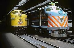 C&NW F7 407 (Chuck Zeiler) Tags: cnw f7 407 rta e8 514 railroad emd locomotive train chz