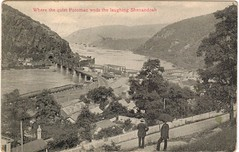 1908 View of the River Confluence at Harpers Ferry (Postcard) (HarpersFerryNPS) Tags: harpersferry postcard museumcollection erwin camphill