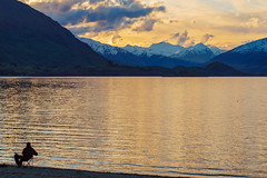 Happiness is tranquility (realzealman) Tags: wanaka newzealand lake mountains snow sky otago dusk centralotago tranquility outdoor handheld