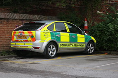 West Midlands Ambulance Service Car/Community Responder (central1850) Tags: bv60 oja west midlands ambulance service car community responder atherstone ford rc8150 warwickshire fordfocus