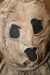 Horror Scarecrow Mask (shaire productions) Tags: sinistercreaturecon image creation halloween horror creature imagery nightmare evil fear picture monster scarecrow mask sack burlap face dark fantasy macabre