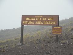Mauna Kea Ice Age Natural Area Sign (jimmywayne) Tags: hawaii maunakea bigisland hawaiicounty summit observatory iceage natural area sign