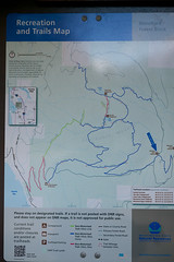 Official map at upper Trailhead. Oyster Dome via Blanchard, 3/29/13, Bellingham WA