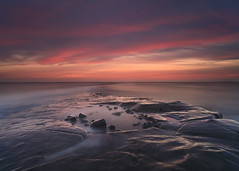 Kimmeridge Sunset (peterspencer49) Tags: ocean longexposure sunset southwest rock clouds coast colours cliffs dorset coastline oceanview coastalpath westcountry southwestcoast jurassiccoast dorsetcoast southwestcoastalpath cliffwalks 5dmkll coastalledges
