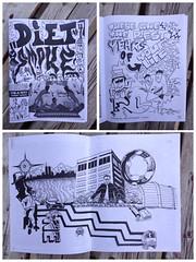 Diet Smoke #4 (Micro Goblin) Tags: zine magazine comics graffiti diy sharpie graff trade counterculture zines