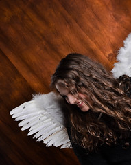 Angels (+1) (FedericaBphotos) Tags: friends boy portrait italy white love girl 35mm easter lights wings italian focus bokeh like guys angels cousin f18 18 emotions comment lightroom pasqua prefer