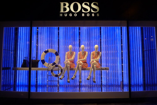 Vitrines Hugo Boss - Paris, mars 2013