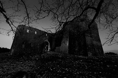Guardian ghost (ChrisBrn) Tags: bw tree castle silhouette night fort ghost greece