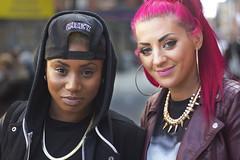 55/100, Suzette and Charlotte/London (Shoreditch) (JonCampSGP) Tags: london shoreditch bricklane eastlondon 100strangers