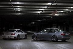 Turbo and M3 (Vatche.K) Tags: california cars lights euro 911 turbo german porsche bmw m3 carrera 996 e46 glendora azuza