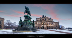 Dresden by Morning - The Semperoper (MLechuga Photography) Tags: world life street new old city travel bridge blue trees light boy sunset red portrait sky people blackandwhite italy music orange usa sun mountain lake snow man black mountains flower macro tree green london castle art fall cars church nature colors girl rock architecture night clouds digital forest canon reflections germany landscape photography eos dresden is photo europe action bokeh sigma wideangle chrome 7d summertime usm dslr canoneos hdr kaiserslautern intheair catherdal