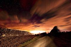 night time stars. (dangrahamphotography) Tags: road york uk trees sky clouds dark stars lights walk paintingwithlight bushes cloudporn skyatnight digitalcameraclub skyporn blinkagain dangrahamphotography dangrahamphotographycom