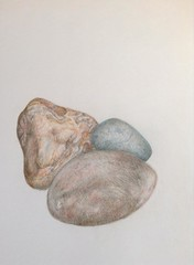 3 Coloured Rocks Study (MarkByford) Tags: art artwork rocks coloured examprep gcseart