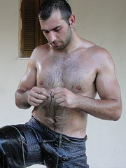 Oil wrestling (d.mavro) Tags: shirtless beautiful greek body wrestling traditional sensual greece grecia oil oily wrestler biceps greco greased grecoroman pehlivan gre pahlavan pehlwan