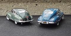1948 Chevrolet Fleetline AeroSedan & 1948 Buick Roadmaster Sedanet Coupe (JCarnutz) Tags: 1948 chevrolet buick fleetline diecast roadmaster 124scale danburymint sedanette aerosedan