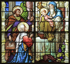 Simeon's Song with Blue Suede Shoes (ioensis) Tags: blue glass saint st joseph shoes singing song mary jesus stained april anthony simeon emil suede frei padua nunc jdl 2013 ioensis dimittis 7593c1b