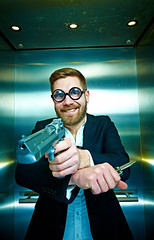 Backup Plan (cszar) Tags: model nikon gun lift elevator wideangle nikkor speedlight softbox aufzug cls airsoft d600 deserteagle strobist lulzim 1424mmf28g captureone7