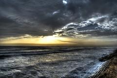 ©Hassan Rashid (HassanRashid7) Tags: ocean pakistan sea beach nature water rain weather clouds dark intense rocks surreal seashore afterrain breakwater intenseclouds intenseweather hdrkarachi