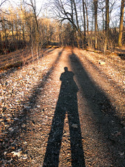 long shadows (Ian Muttoo) Tags: shadow selfportrait ontario canada long gimp sp mississauga longshadow 20130416 184450edit