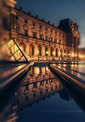 Reflections of the History (A-lain W-allior A-rtworks) Tags: paris france water museum reflections nikon eau louvre muse nikkor reflets pyramides