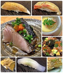 :  (Danburg Murmur) Tags: fish sushi geotagged rice mosaic sashimi taiwan bowl squid taipei   greenonions  scallions ikura  nori tamago   chirashizushi taipeirestaurants       nigirizushi        geo:lat=250321709 geo:lon=12155278599999997
