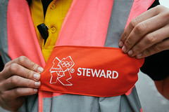 Steward (JoelICastaneda) Tags: uk london unitedkingdom volunteer steward london2012 olympicrings