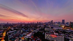 Bangkok Afterglow (I Prahin | www.southeastasia-images.com) Tags: city sunset urban thailand cityscape skyscrapers dusk bangkok cbd hdr sathorn businessdistrict