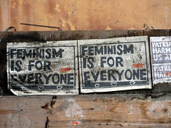 Feminism (knightbefore_99) Tags: poster art feminism everyone bc street commercialdrive vancouver fight eastvan political message cool awesome city right best