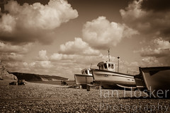 Untitled (2013-04-29 16:11:57) (Ian Hosker) Tags: sea summer fish tourism beach beer boats coast seaside fishing village tourists devon jurassic