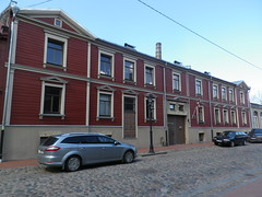 Murnieku Street in Riga, Latvia. Wednesday, May 1, 2013 (Vadiroma) Tags: city building facade wooden europe capital baltic latvia riga lettland rga latvija cobbledstreet baltikum woodenarchitecture lettonie 2013