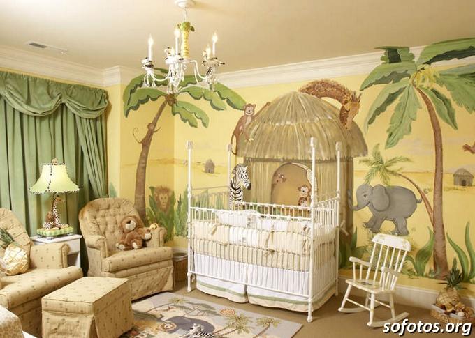 decoração de quarto de bebe safari