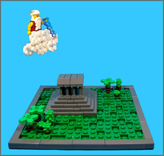 The Wrath of Zeus (Karf Oohlu) Tags: temple lego zeus vignette greektemple moc microscale wrathofzrus