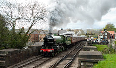61306 Mayflower Leaving Grosmont (saxman1597) Tags: beauty station museum train landscape nikon yorkshire transport railway historic steam sigma18125 mayflower steamtrain steamlocomotive grosmont nymr northyorkmoorsrailway lner nikond200 historictransportation historictransport classictransport classiclocomotive 61306mayflower nymrsteamgala2013 b1loco