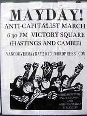 Mayday (knightbefore_99) Tags: art vancouver poster march bc solidarity mayday victorysquare eastvan struggle manif resistance resist