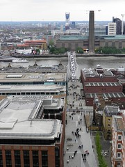 Millennium Bridge and Tate Modern (Normann) Tags: london stpaulscathedral