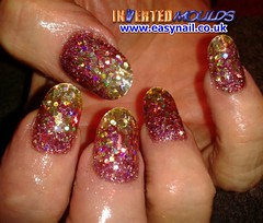 Cheryl Gold and Bronze Chunky Glitter (invertednailsystems) Tags: pink orange black art beauty by glitter gold evans neon acrylic im lotus nail powder kerry nails step ami cheryl tips mold inverted hammond gel oconnor false ims invert extensions nailart moldes sunseekers powders moulds enuk easynailuk