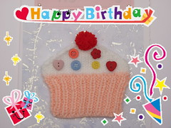 121022 1 Happy Birthday card for Mum ( Claire ) Tags: birthday happy knitting buttons knit craft cupcake card happybirthday kit knitted crafting pompom cardkit kitcard knitola