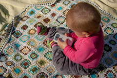 Aleksandra_12month_19 (Nat Shukova) Tags: baby girl little handmade crochet blanket
