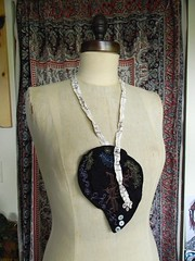 floriography necklace4 (Danny W. Mansmith) Tags: seattle handmade sewing details fiberart delicate homespun urbancraftuprising dannymansmith shellbuttons drawingwiththesewingmachine stopmotionsewing