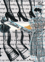 Letter from Vegas (GallivantingGirl) Tags: art collage paper newspaper artwork mixedmedia vintageephemera