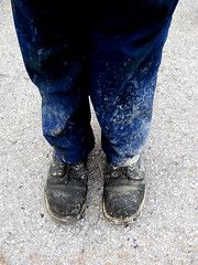 Sludge 365 Days (Year 7) #200 05/21 (randeclip) Tags: feet me club self work shoes day image boots group ground down dirty days 365 sludge portrate motorpool