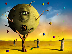O Olho. (Marcel Caram) Tags: photoshop photo marcel surrealism digitalart magritte digitalpainting digiart surrealist salvadordali maxernst chirico salvadore surrealismo digitalartwork pinturadigital surreale marcaram