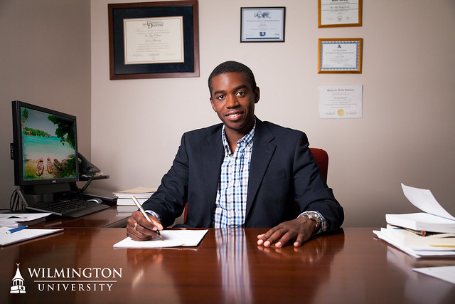 Dr. Leo-Rey Gordon, Fulbright Scholar and assistant professor at Wilmington University.
