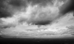 Dark & Calm (anandgovindan) Tags: anandgovindan anandgoviphotography landscape blackandwhite blackwhite fineart art nature dark black hills hill valparai pollachi tamilnadu india southindia hillstation peace westernghats mighty serene calm carpet horizon ultrawideangle wideangle 1855mm canon canon600d incredibleindia travel outdoor valley mountain clouds cloud sky drama skyscape mountainside field minimal minimalistic minimalism