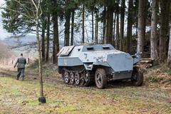 2015 Bastogne NutsWeekend : Amberloupe (Yolan104) Tags: 2dewereldoorlog amberloupe ardennen belgium belgië countries halftrack landen landschap military sdkfz7 tracesofwar voertuigen ww2 landscape