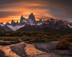 You and me. We're special (Jay Daley) Tags: patagonia argentina south america mount fitzroy sunset nikon d810